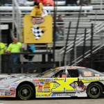 Jon Reynolds Jr. took the checkered flag in late model competition at Rockford Speedway in Illinois. (Doug Hornickel photo)
