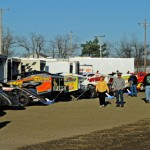 The pits were full of race cars Saturday night at Ohio's Sharon Speedway. (Joe Secka/JMS Pro photo)