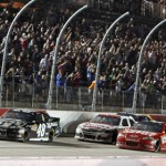 Jimmie Johnson (48) leads late during the Bojangles Southern 500 at Darlington (S.C.) Raceway. (HHP/Alan Marler Photo)