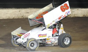 Chad Kemenah, shown earlier this season at Eldora Speedway is going back to his roots. (Julia Johnson photo)
