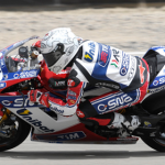 Carlos Checa took race one, but crashed out of race two in Utah. (Photo: World SBK)