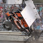 Darren Orth takes a wild ride during Top Gun Sprint Series competition at Florida's Bubba Raceway Park. (R.E. Wing photo)