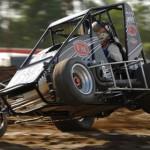 Jerry Coons, Jr. gets up on two wheels at Gas City I-69 Speedway earlier this year. (David E. Heithaus Photo)