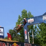 Ryan Dungey flies through the air after winning the first 450cc class event as part of the AMA Pro National Motocross event held at Budds Creek (Md.) Motocross Park June 16. (Andy Marquis/TheBAYNET.com Photo)