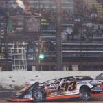 Ray Moore (93) took a dominant SUPR late model victory at Beaumont, Texas. (RonSkinnerPhotos.com Photo)