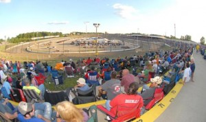 The crowd at Eldora Speedway prepares for a night of racing action in 2012. (Frank Smith Photo)