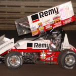 Kraig Kinser drove to victory in the 2005 edition of the Knoxville Nationals at Knoxville (Iowa) Raceway. (Mark Funderburk Photo)