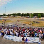 A huge crowd was on hand to see Matt Kenseth win the Slinger Nationals Sunday night at Wisconsin's Slinger Superspeedway. (Kevin Nuttleman photo)