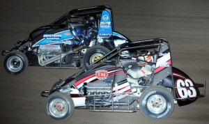Jerry Coons Jr. (63) charges under Caleb Armstrong at the Belleville Highbanks. (Ken Simon photo)