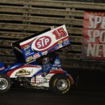 Donny Schatz romped to victory in the SPEED SPORT World Challenge at Knoxville Raceway in 2012. (Mark Funderburk Photo)