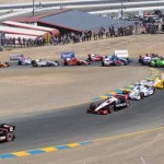 Will Power leads the IZOD IndyCar Series field at the start of Sunday's GoPro Indy Grand Prix of Sonoma at California's Sonoma Raceway. (Tom Parker Photo)