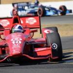 Dario Franchitti wheels his No. 10 entry through a turn at Sonoma (Calif.) Raceway on Sunday. (Jerry Jones Photo)