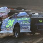 Modifieds hot lap at Lakeside Speedway in Kansas City, Kan. (Ivan Veldhuizen photo)