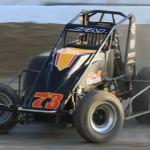 Ryan Bernal (73) won Sunday's USAC-CRA Sprint Car Series event at Victorville, Calif. (Doug Allen photo)