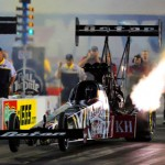 Shawn Langdon fires off the starting line during NHRA Top Fuel eliminations at zMAX Dragway in Concord, N.C. (HHP/Tami Pope Photo)