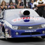 Jason Line drove to victory in the NHRA Pro Stock division at zMAX Dragway Sept. 16. (HHP/Harold Hinson Photo)