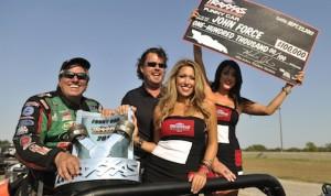 John Force won Saturday's Traxxas Nitro Shootout at the Texas Motorplex. (NHRA photo)