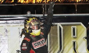 Tracy Hines won the sprint car portion of the 4-Crown Nationals at Eldora Speedway last year. (Mike Campbell photo)
