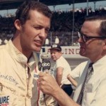 Chris Economaki interviews Richard Petty. (NSSN Archives Photo)