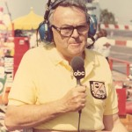 Chris Economaki spent many years as a broadcast announcer for ABC. (NSSN Archives Photo)