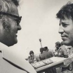 Chris Economaki and Mario Andretti. (NSSN Archives Photo)