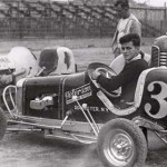 A young Chris Economaki sits in a midget in the 1930s. (NSSN Archives Photo)