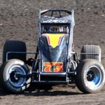 Ryan Bernal wheels through turn one at Calistoga Speedway. (Tom Parker Photo)