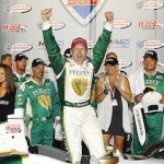 Ed Carpenter won Saturday night's MAVTV 500 at Auto Club Speedway. (IndyCar/LAT USA photo)
