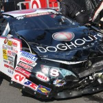 Jorge Arteaga crashed during Saturday's NASCAR K&N Pro Series East event at New Hampshire Motor Speedway. (Dick Ayers Photo)