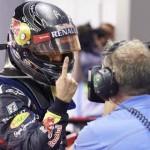 Sebastian Vettel celebrates after winning the Singapore Grand Prix on Sunday at the Marina Bay Street Circuit. (Steve Etherington Photo)