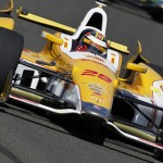Ryan Hunter-Reay finished fourth to win the IZOD IndyCar Series title Saturday at Auto Club Speedway in Fontana, Calif. (Photo Courtesy IZOD IndyCar Series)