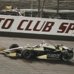Ed Carpenter drives to victory during the IZOD IndyCar Series MAVTV 500 at Auto Club Speedway in Fontana, Calif. His sponsor, Fuzzy's Vodka, will back the Fuzzy's Triple Crown in 2013. (Photo Courtesy IZOD IndyCar Series)
