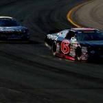 Kyle Larson (6) leads Brett Moffitt during Saturday's NASCAR K&N Pro Series East event at New Hampshire Motor Speedway. (NASCAR Photo)