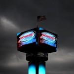 Storm clouds around the scoring tower at Richmond (Va.) Int'l Raceway. (NASCAR Photo)