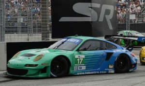 Team Falken drivers Wolf Henzler and Bryan Sellers en route to their second consecutive victory on the streets of Baltimore.