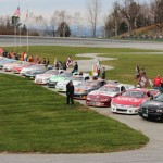 The Milk Bowl field prepares for Sunday's 50th running of the historic event at Thunder Road Int'l Speedbowl in Barre, Vt. (Leif Tillotson Photo)
