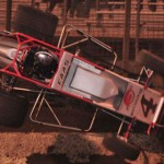 Nic Faas catches some air during USAC sprint-car action at Perris (Calif.) Auto Speedway Saturday. (Marv Keller Photo)