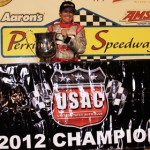 Shannon McQueen won the 2012 USAC Western Midget Series championship. (Doug Allen Photo)