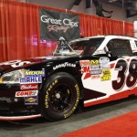 NASCAR Nationwide Series team Turner Motorsports had its Great Clips Chevrolet on display at the 2012 SEMA trade show. Great Clips will not return to the team in 2013. (SEMA Photo)