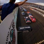 Cale Conley (47) and Michael Self (21) lead the NASCAR K&N Pro Series West field to the green flag Saturday at Phoenix Int'l Raceway. (NASCAR Photo)