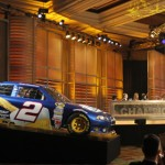 Brad Keselowski's No. 2 Dodge sits on display during the NASCAR Sprint Cup Series banquet on Friday in Las Vegas. (HHP/Harold Hinson Photo)