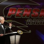 Roger Penske, the championship winning car owner, talks during the 2012 NASCAR Sprint Cup Series banquet in Las Vegas. (HHP/Harold Hinson Photo)