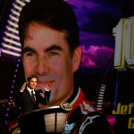 Jeff Gordon addresses the crowd during the 2012 NASCAR Sprint Cup Series Banquet in Las Vegas. (NASCAR Photo)