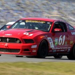 Jack Roush Jr. and Billy Johnson drove the No. 61 Ford Mustang to victory in the Grand Sport class Friday at Daytona Int'l Speedway during the BMW Performance 200. (Grand-Am Photo)