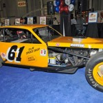 NASCAR Hall of Famer Richie Evans' historic No. 61 modified was one of many race cars on display during Motorsports Show 2013 in Oaks, Pa. (Harry Cella Photo)
