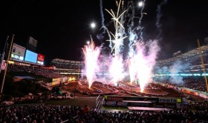 In 2014, 13 Monster Energy AMA Supercross Championship races will air live on FOX Sports 1 starting with the season opener from Angel Stadium in Anaheim, Calif. (Monster Energy photo)