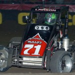 Kyle Larson led laps early on but failed to finish Saturday's Chili Bowl A-Main in Tulsa, Okla. (Keenan Wright Photo)