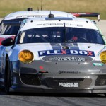 The Magnus Racing No. 44 Porsche was at or near the front of the GT class field throughout the first 12 hours of the 51st Rolex 24 at Daytona Int'l Speedway. (Grand-Am Photo)