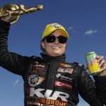 Erica Enders-Stevens has landed sponsorship from Husky Liners that will allow her to race for the NHRA Pro Stock title. (NHRA Photo)