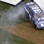 Jimmie Johnson celebrates after winning his second Daytona 500 on Sunday. (HHP/Brian Lawdermilk Photo)